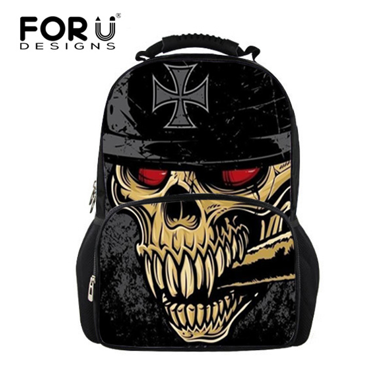FORUDESIGNS Cool Skull Large Backpacks for Teenage Girls Boys,Tiger Printing Men Women Backpack,Children Bag Pack to School Bags
