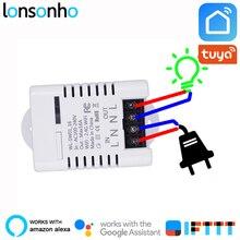 Lonsonho Wifi Smart Switch Relay 10A 16A Tuya Smart Life App Wireless Remote Control Works With Alexa IFTTT Google Home Mini все цены