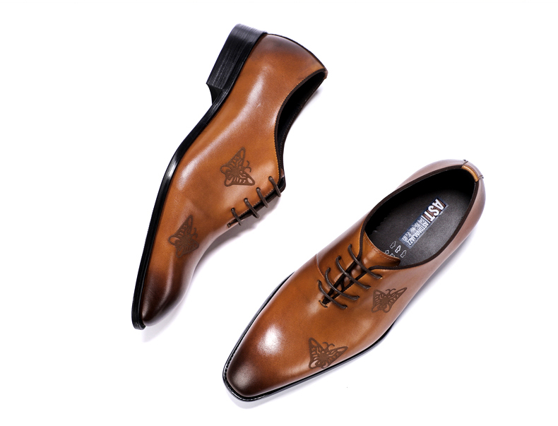 Men`s Leather Casual Shoes Business Mens Genuine Leather Moccasins Men Oxfords Shoe Office Casual Leather Shoes Men Big Size 45 (5)