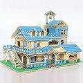 Дом сад виллы 3d деревянные головоломки деревянный дом ломать игрушки для детей логико учебных пособий подарки для детей