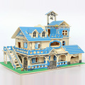 House Garden Villa 3d Wooden Puzzle Wooden House Puzzle Toys For Children Logico Teaching Aids Gifts For Kids