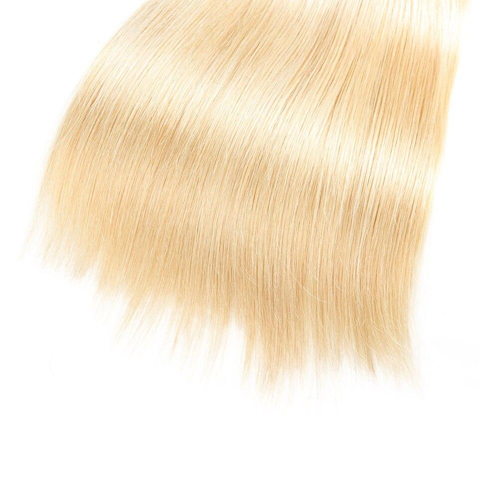 Sleek Hair Blonde Brazilian Straight Hair 3 Bundles Deal T1B 613 Remy Human Hair Hair Extensions 10 To 30 Inches Free Shipping (3)