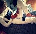 2016 весна/осень роскошный дизайнерский бренд Женщин взлетно-посадочной полосы костюм Спортивной логотип письмо печатные куб. см толстовка + jogger Брюки костюм