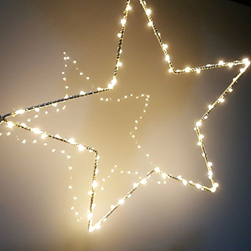 Led Star Curtain Lights 2 Sets Battery Copper Wire Light String For Outdoor Home Fairy Garden Wedding Xmas Tree Christmas In From