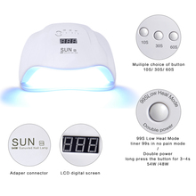 Nail Dryer Lamp with 30s/60s Timer and LCD Display