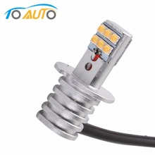 1pcs H3 6000K White 12 SMD Super Bright Led Chip 650LM Car LED Fog Lights Bulb High Bright Daytime Auto Light DRL Lamp 6000K 12V