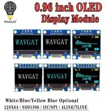 """0,96 дюймовый OLED IIC Серийный белый дисплей модуль 128X64 igc SSD1306 12864 ЖК-экран Плата GND VCC SCL SDA 0,9"""" для Arduino черный"""