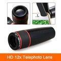 Zoom óptico de 12x lente teleobjetiva para xiaomi redmi 2 3 s 4 nota 3 mi4 mi5 mi6 huawei htc lentes da câmera do telefone telescópio com Clips