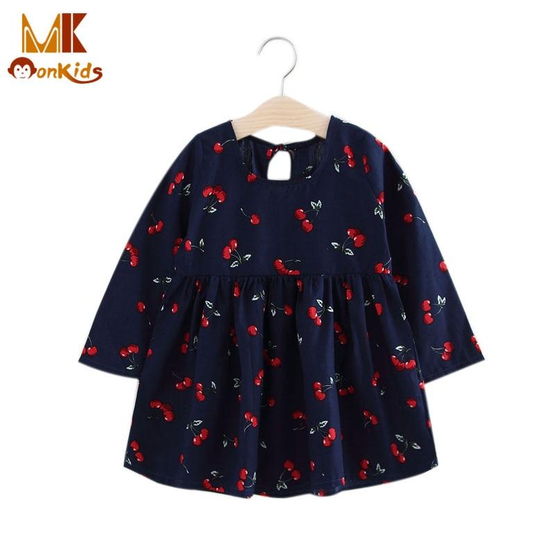 Monkids Girl Dress Print Pattern Children Tutu Dresses for