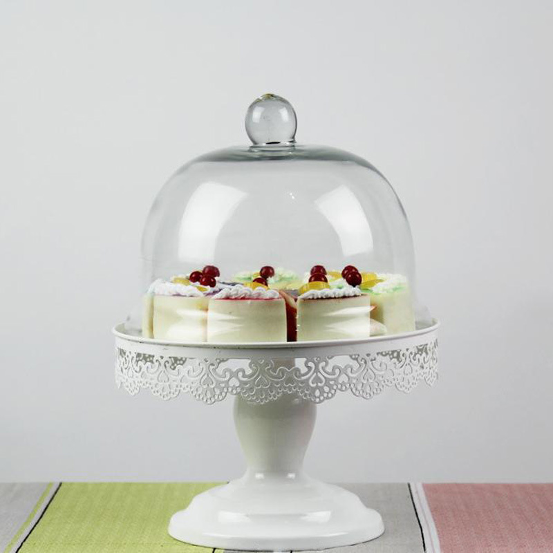 1 Pcs Lace Pattern Wedding Decorative Cake Stand Fruit Dessert Plate With Glass Cover White Color-in Stands from Home \u0026 Garden on Aliexpress.com | Alibaba ...  sc 1 st  AliExpress.com & 1 Pcs Lace Pattern Wedding Decorative Cake Stand Fruit Dessert Plate ...