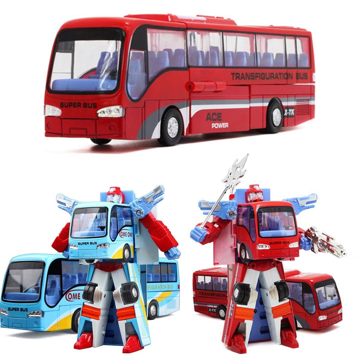 Alloy Robot Transformation Car Toys Alloy Deformation P olice Robot Bus Toy For Kids children Birthday Christmas gift alloy plastic engineering vehicles deformation car robot transformation toys robot set action figure model for kids gift