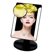 LED Touch Screen Makeup Mirror Vanity Mirror With 36 LED Lights Adjustable Countertop 180 Rotating Magnifying Cosmetic Lamp A184