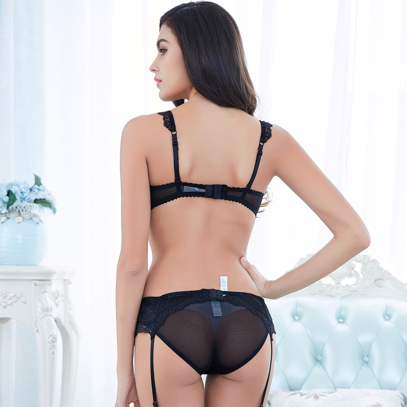 Sexy Lace Solid Lingerie 1