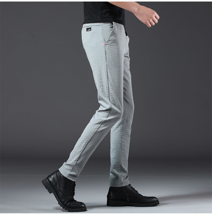 HTB1wuL4R6DpK1RjSZFrq6y78VXa6 Jantour 2019 Fashion Men Pants Slim Fit Spring summer High Quality Business Flat Classic Full Length thin Casual Trousers male
