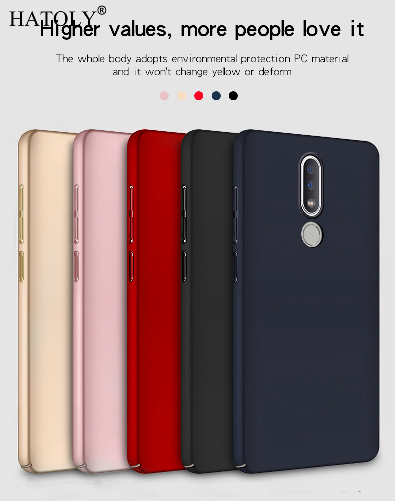 For Cover Nokia 6.1 Plus Case Thin Hard PC Shell Cover Bumper Protective Phone Case For Nokia 6.1 Plus Cover For Nokia 6.1 Plus