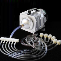60W 220V Air Compressor Fish Pond Inflatable Aeration Pump Roast Duck Pumping Multi function Electromagnetic Electric PumpACO328