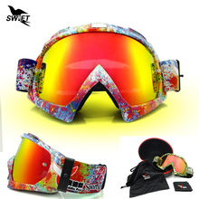 New Adult Anti-Fog Plating UV400 Protection Ski Snowboard Goggles Mountain Skiing And Snowboarding Snow Glasses Cycling Googles
