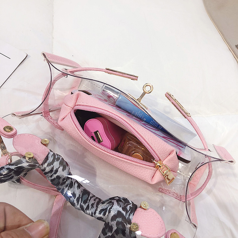 Women Clear Bag Handbags Purse Tote High Quality PVC Women Transparent Jelly Crossbody Bags Beach Bag sac a main Bolso Mujer in Shoulder Bags from Luggage Bags