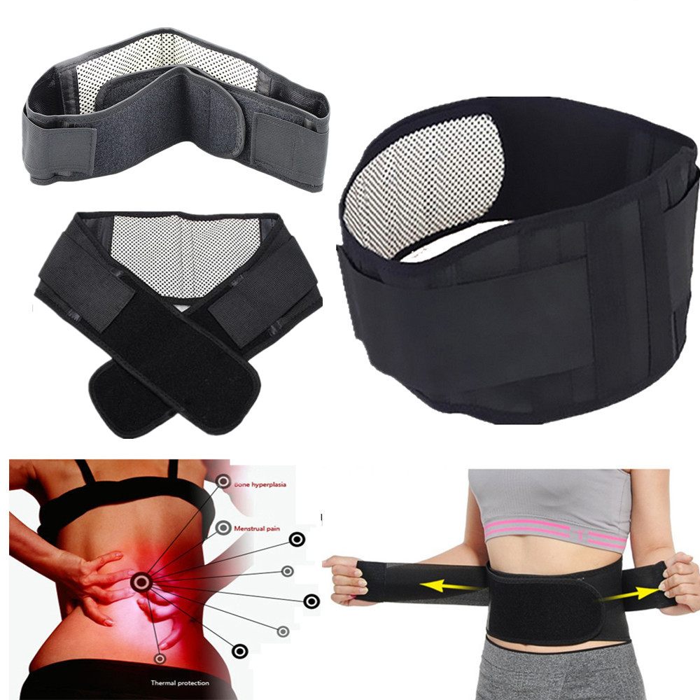 Tourmaline Self-heating Magnetic Therapy Waist Belt Lumbar Support Back Waist Support Brace Double Banded Foot Care tools