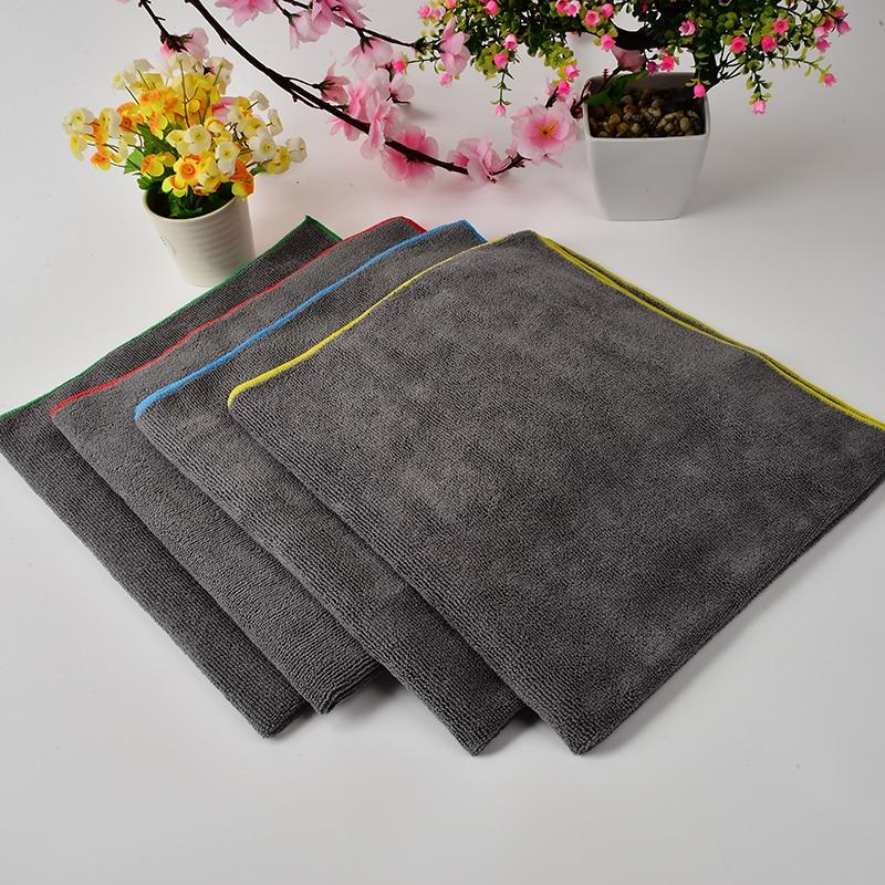 1pcs גריי Microfiber ניקוי בגדים משק בית Dishcloth