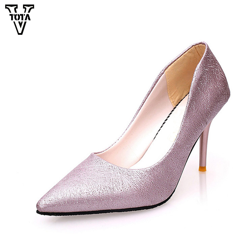 VTOTA  High Heels Thin Heel women pumps OL Pumps Offical Shoes Slip On Shoes Woman Platform Shoes zapatos mujer Ladies Shoes G56 strange heel women ankle boots genuine leather elastic booties wedge shoes woman high heels slip on women platform pumps