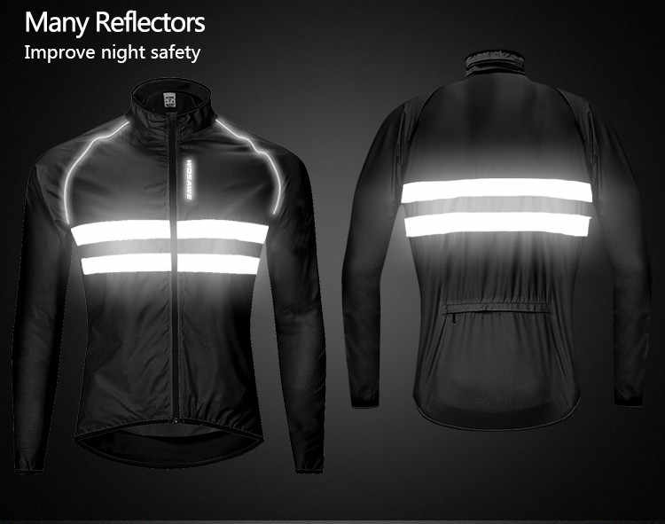Waterdichte Fietsen Jacket Mannen Vrouwen Reflecterende Winddicht Bike Regen Wind Jas Groen Veilig Vest 3XL MTB Jersey Fiets Regen Jas