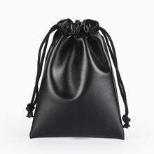 a5cd44572 High Quality Retail Black PU Leather Bags Jewelry & Phone Gift Packaging  Pouch Wedding Birthday Party