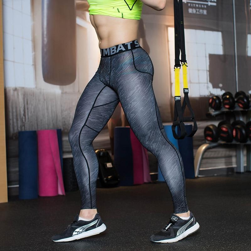 Mens Leggings Running High Waist Gym Pants Men Tights Sport Training For font b Football b