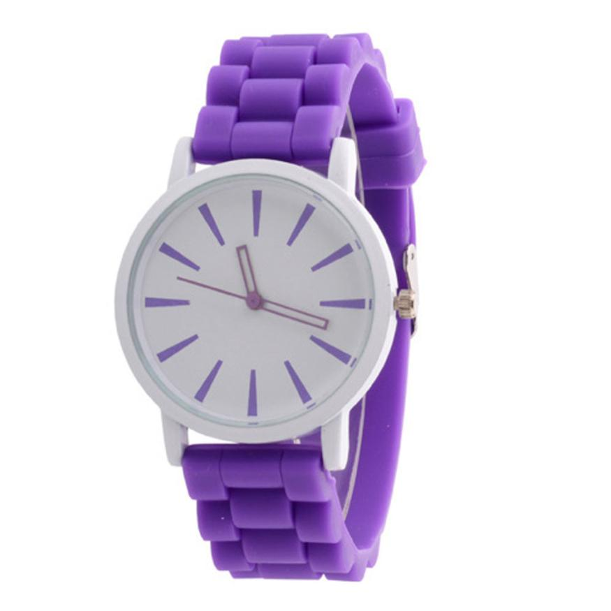 New Fashion Designer Geneva Ladies sports brand silicone watch jelly watch 7colors quartz watch for women relojes mujer Feminino 2017 new fashion women geneva silicone rubber jelly gel quartz analog sports wrist watch 0vjs