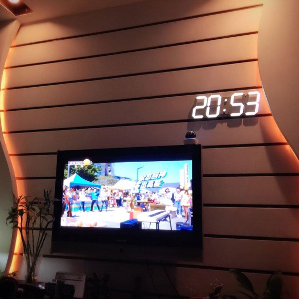 Led Rəqəmsal Divar Saatı Böyük LED Ekran Uzaqdan Nəzarət Geri - Ev dekoru - Fotoqrafiya 5