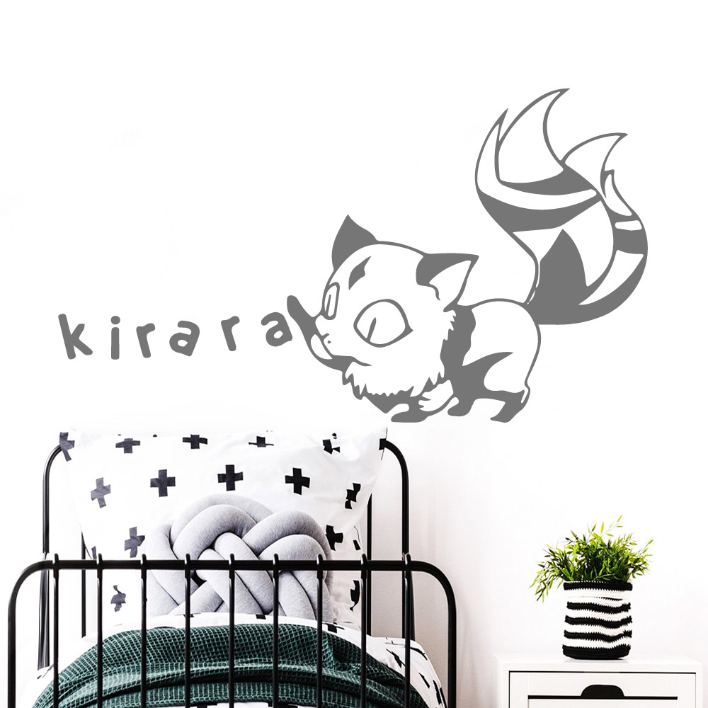 3D Inuyasha Wall Stickers Vinyl Waterproof Home Decoration Accessories Removable Wall Sticker Art Decoration DIY Home Decor in Wall Stickers from Home Garden