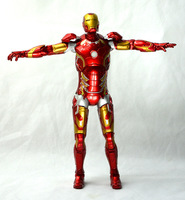 1pcs Set Iron Man3 Action LIGHT Figure MK43 Edition The Avengers Anime Marvel Toy Classic Collection