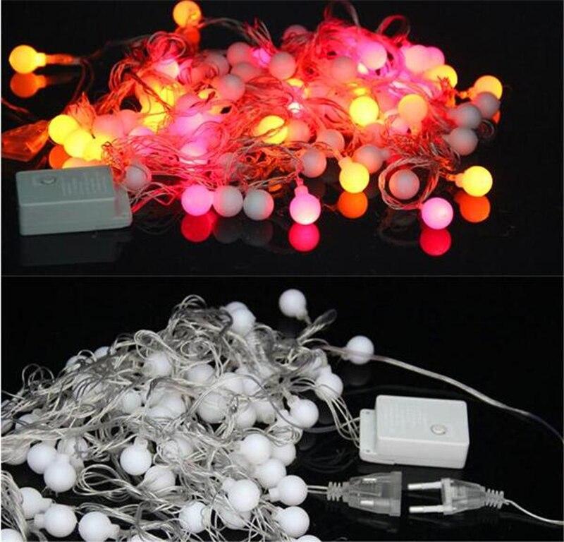 online shop 10m100 bulb string of ball lights xmas fairy lights flasher lights led strip lamp sphere lighting for wedding party garland aliexpress mobile - Sphere Christmas Lights