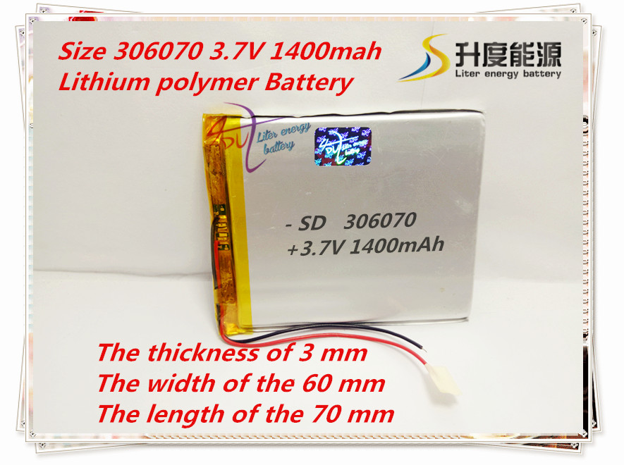 3 7V 1400mAh Lithium Polymer LiPo Rechargeable Battery cells power For PAD GPS PSP Vedio Game