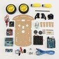 2WD Motor Robot Elegante Chasis Car Kit de Seguimiento de Coche Inteligente 2WD Arduino MCU Ultrasónico Envío Gratis
