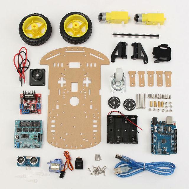 2WD Smart Car Tracking Motor Smart Robot Car Chassis Kit 2WD Ultrasonic Arduino MCU Free Shipping