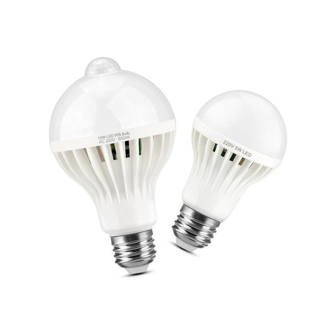 חכם קול חיישן/PIR Motion חיישן LED מנורת 220v E27 3W 5W 7W 9W 12W LED נורות לילה חיישן מתג אוטומטי בקרת בית תאורה