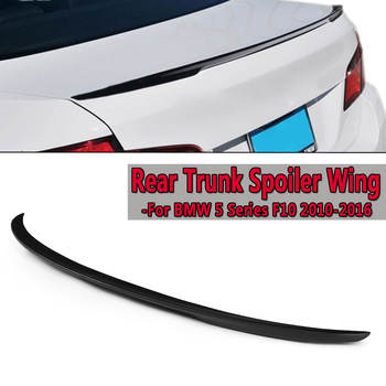 ABS Plastic Rear Black Trunk Spoiler Wing For BMW 5 Series F10 2010-16 Rear Wing Spoiler Rear Trunk Roof Wing 125cm High Quality