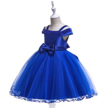 2019 Summer Birthday Party Tutu Princess Dress Kids Dresses For Girls Lace Shoulderless Children Girl Clothes