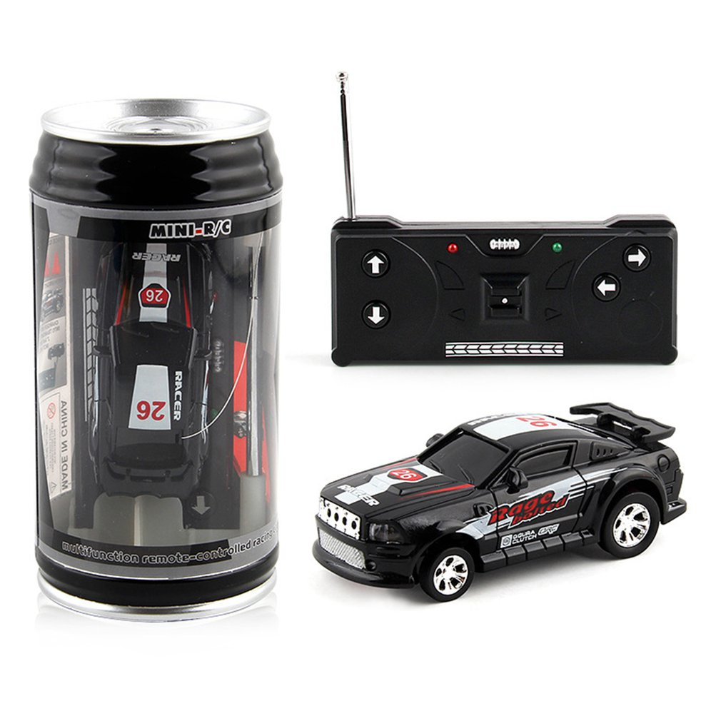 Mini Wireless Remote Control Toy Car Cola Cans Speed Racing Electric Four-way Model Toy For Children