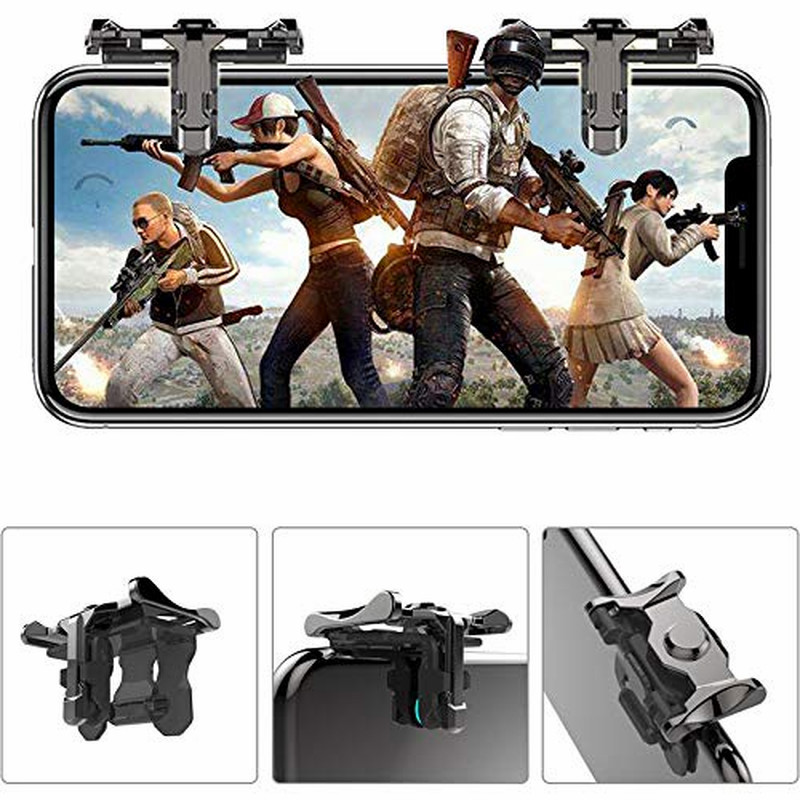 Wrumava PUBG Metal trigger mobile phone Game for Pubg controller L1R1 knob button for iphone LG Joy Stick Pubg game
