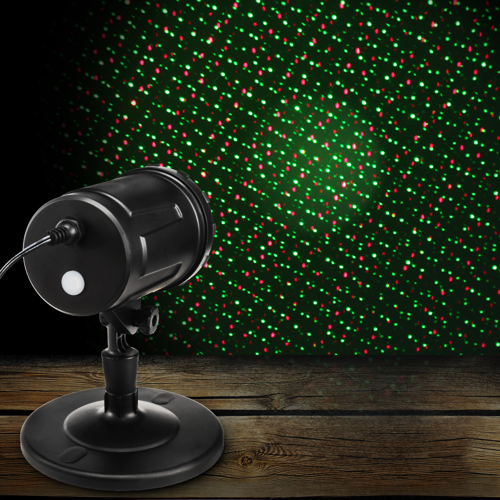 Waterproof Red Green Moving Twinkle Laser Light Remote Control Stage Light For Garden Wall Lawn Christmas Decoration