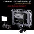 Controle de toque levou luz fotografia luz de vídeo foto iluminação lâmpada led com câmera sapata para câmera canon nikon sony dslr camcorder