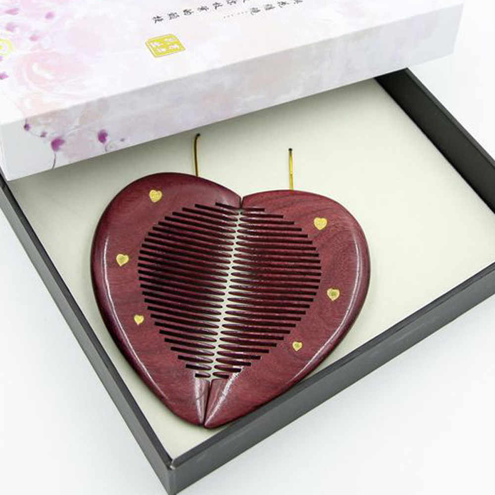 Sisir Rambut Sikat Kayu Saku Sisir Kit Pasangan Kekasih Pacar Pacar Hadiah Sisir 2 Buah/Banyak Cendana DROP Shipping July26