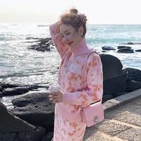 new fashion autumn temperament comfortable print loose shirt casual solid slim skirt wild fresh outdoor warm knit women sets