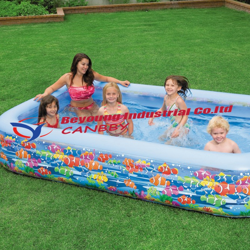 US $45.95 |Rectanglar shape intex swim center ocean tropical reef  inflatable swimming pool for family-in Pool & Accessories from Sports & ...