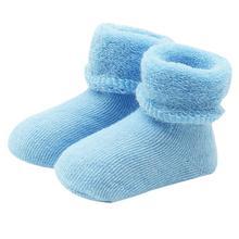 Для малышей из чесаного Хлопковые короткие носки Обувь для девочек мальчик эластичность шерстяные Носки для девочек леверт челнока jan11