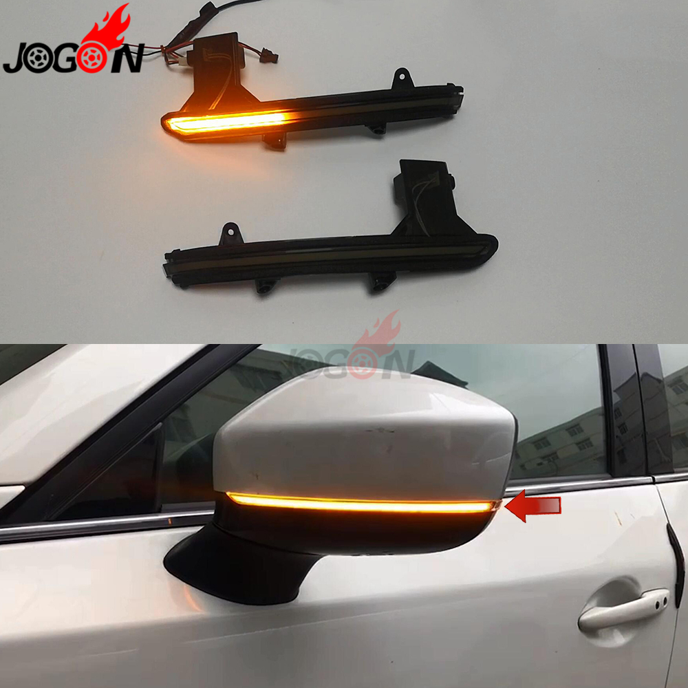 LED Dynamic Turn Signal Light For Mazda CX-5 KF CX-8 2017-2019 CX-9 TC Side Wing Rearview Mirror Indicator Sequential Blinker