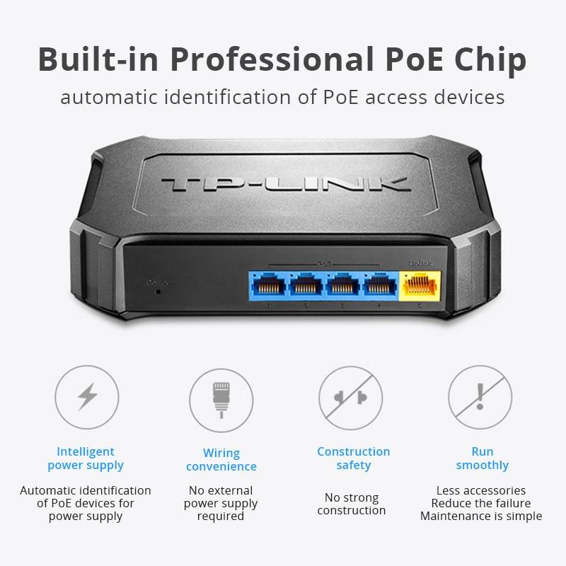 <font><b>TP</b></font>-<font><b>LINK</b></font> Poe <font><b>Switch</b></font> 5port 10/100Mbps with 4 Ethernet <font><b>Network</b></font> Full-duplex fast Plug and