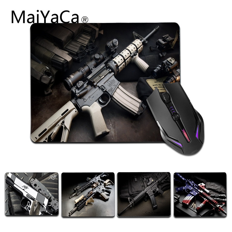 MaiYaCa  Rifle Guns Comfort small Mouse Mat Gaming Mouse pad Size for 25X29cm Rubber Mousepads